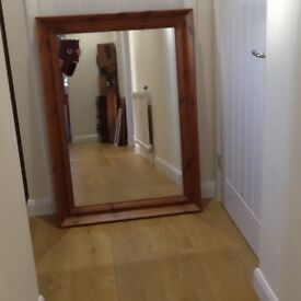 Large mirror with solid pine frame