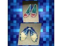 Union Jack Irregular Choice ladies designer shoes size 6 Royal Wedding