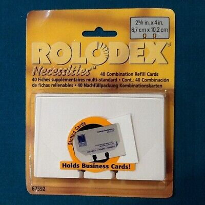 40 Rolodex Combination Refill Cards 2 58 X 4 Free Shipping