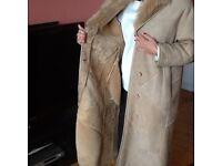 Womens fine sheepskin leather coat
