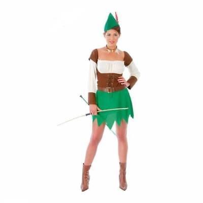 Damen Robin Hood Peter Pan Bogenschütze Mittelalter (Peter Pan Damen Kostüme)
