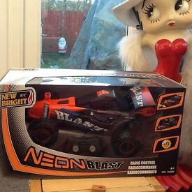 Neon blast remote control car