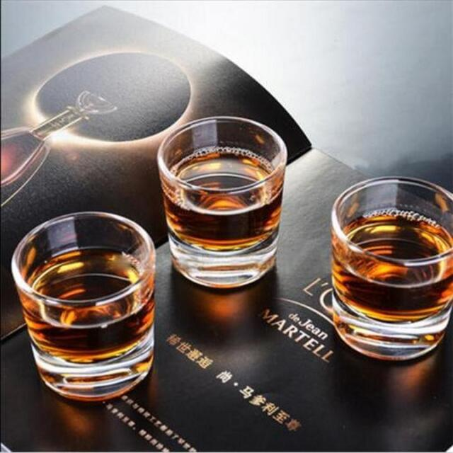 Set of 4 Crystal Double Old Fashioned Glasses Whiskey Tumblers Shot Glass H