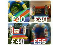 Bouncy castle Rodeo bull sumo suit Gladiator dual hire from £40 a day chocolate fountain