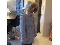 Girls age 10/12 duck down coat