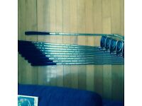 Golf clubs and accessories bag trolly brolly plus
