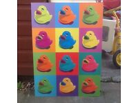 Fantastic Pop Art picture of Rubber Ducks great condition