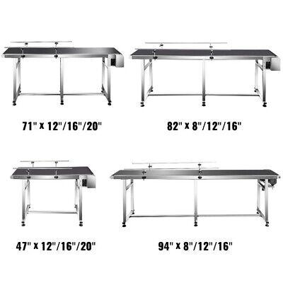 Vevor Belt Conveyor Pvc Conveyor Belt 110v Stainless Steel Motorized Conveyor