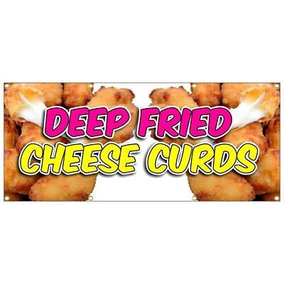 Deep Fried Cheese Curds Banner  Chicken Tenders French Fries Chili Dog Nachos