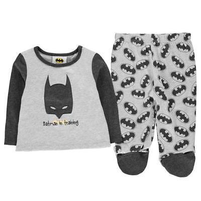 ✅ BATMAN Baby Jungen Schlafanzug Hose & Pullover Pyjama Strampler Body Set NEU