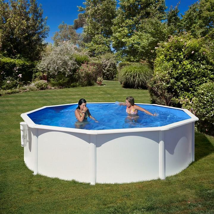 Gre Bora Bora Pool-Set Aufstellbecken Rund 120 x Ø 300 cm + Kartuschenskimmer