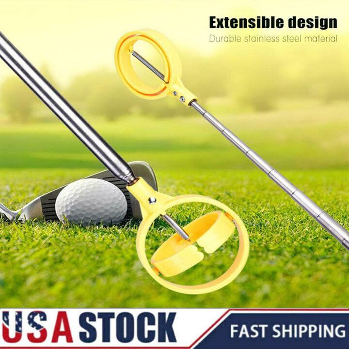 Golf Ball Retriever Telescopic Picking Up Shaft Scoop Ball Pick Up Portable