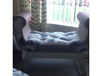 Beautifull teal grey and white chaise lounge would suit anywhere in the house