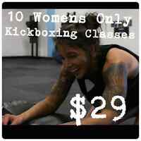 10 Womens Only Kickboxing for $29
