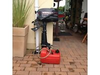 2 stroke 5HP Mercury outboard motor with spare rotor, tank & line very good condition £450 O.N.O