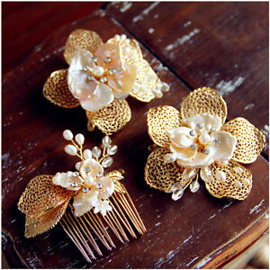 a set of bridal hair accessory for sale (comb and Barrete)