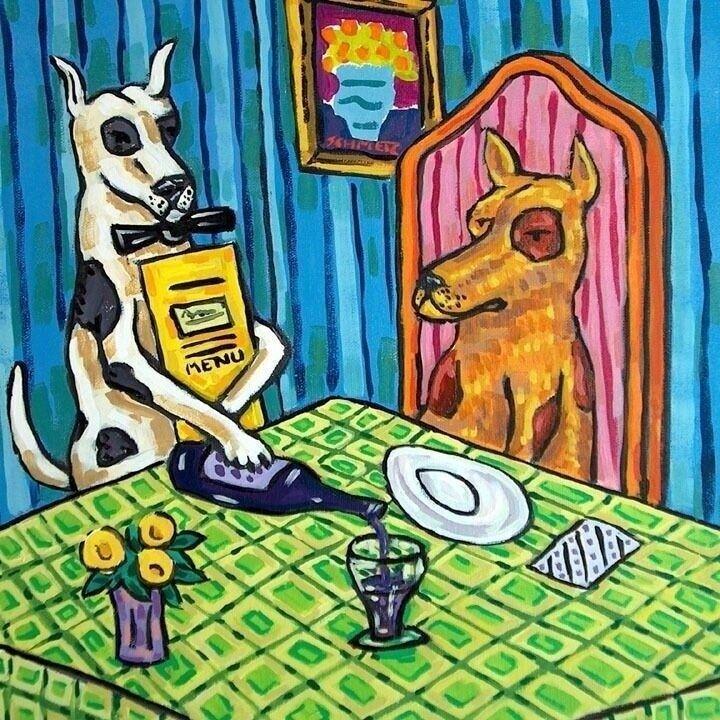 Great Dane art dog art TILE coaster gift JSCHMETZ bath bathroom ceramic folk art