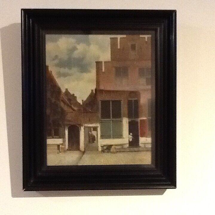 Framed print of The Little Street by Johannes Vermeer
