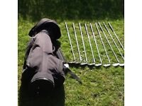 Golf clubs full set Ben Sayers irons and bag