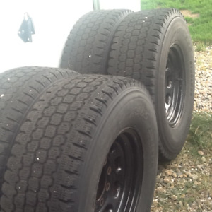 "Winters coming!  Blizzacks on ford 16"" rims fits F350"