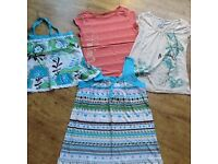 BUNDLE 4 TOPS ANIMAL LABEL SIZE PETITE 8 & 10 GOOD CONDITION , LABEL STILL ON ONE