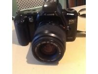 Cannon 35 mm film camera with 2 lenses and black carry case