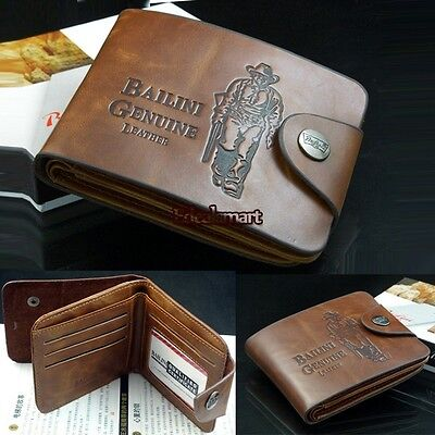 Men Boys Classic Wallet Leather Pockets Credit/ID Cards Holder Purse Best