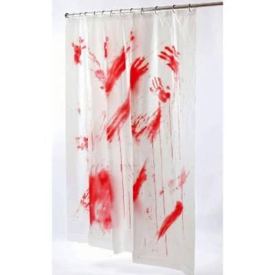 Psycho Horror Halloween Blutig Duschvorhang Blood Badezimmer Party-Dekoration