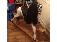 Wooden rocking horse for sale