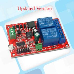 DC 5V 12V 2CH RS485 Relay Board Switch Input/Relay Output Modbus rtu Protocol UE