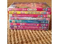 8 Barbie DVDs in Good Used Condition Great For Cold Winter Days or Over The Xmas Holidays