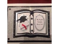 Hademade 3d style A4 Graduation personalized Card