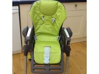 Chicco High Chair, complete with washable seat cushion & large tray. Suit 6 months to 3 years.