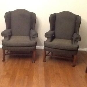 Pair of  elegant wing chairs