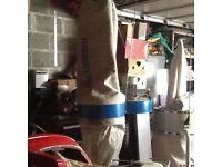 Heavy duty dust extractor 3 phase suit two machines lathe planer saw etc