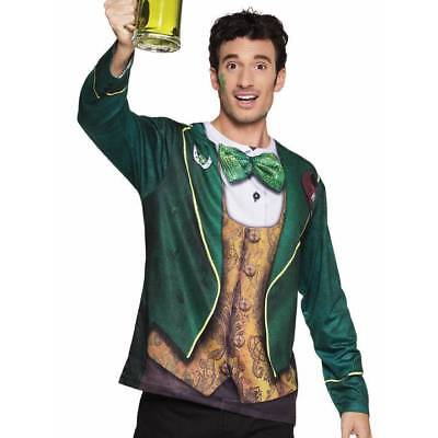 Mens St Patrick's Day Photorealistic Irish 3D Paddy's Fancy Dress Shirt Costume