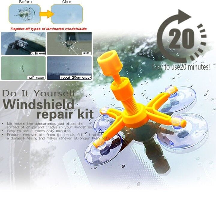 Car DIY Windshield Repair Kit Auto Glass Windscreen Repair Tools Set