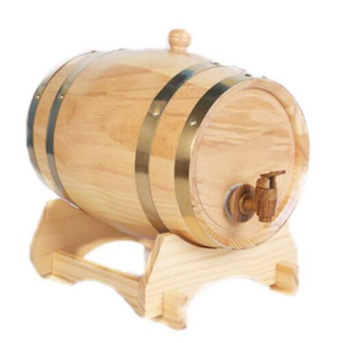 3L Wooden Whisky Wine Barrel Custom Name Groom Groomsman Gifts XT
