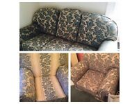 Three Piece Suite (Sofa & 2 Chairs)