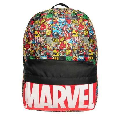 ✅ MARVEL COMICS Avengers Rucksack Tasche Backpack Schul Reise Sport Bag Schulter ()
