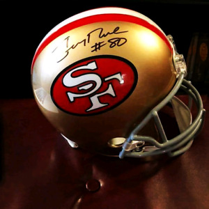 Autographed Jerry Rice helmet