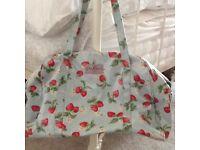 Cath kidston strawberry print weekend travel bag