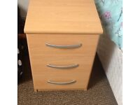 Nearly new bedside tables and chesterdraws