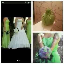 2 beautiful romantic bridemaid/prom dress