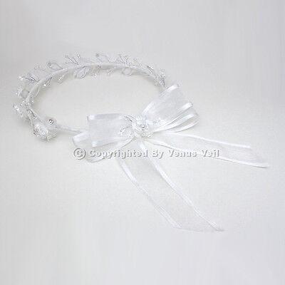 Girl Wreath - Bridal Wedding Flower Girl Communion Wreath Halo Tiara FG006