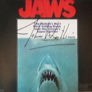 JAWS LP soundtrack autographed by John Williams