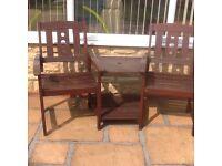 Garden furniture / garden two seater chair