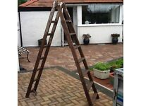 Unique wooden stepladder, ideal for shop display