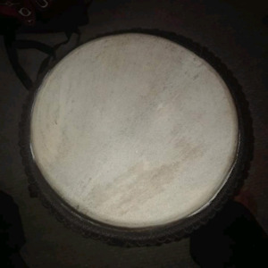 Hand Carved Djembi Drum (24x10.5)