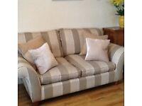 Laura Ashley sofa - Fairmont cedar stripe truffle